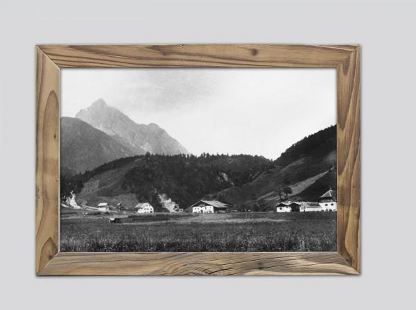 Laintal-um-1900-im-Altholzrahmen