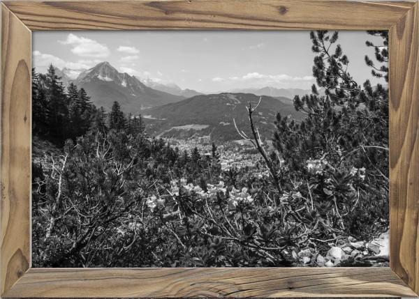 Mittenwaldblick-Wetterstein-Altholzrahmen