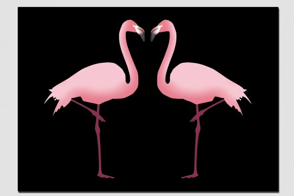 Tischset rosa Flamingos