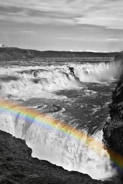 Regenbogen am Gullfoss 2