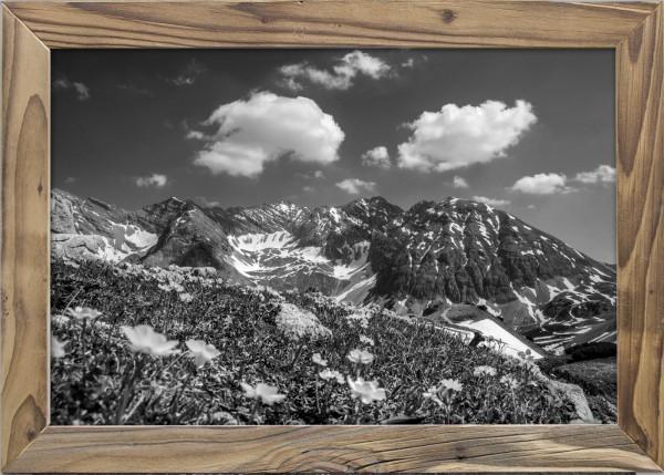 Sommer-Karwendel-Altholzrahmen