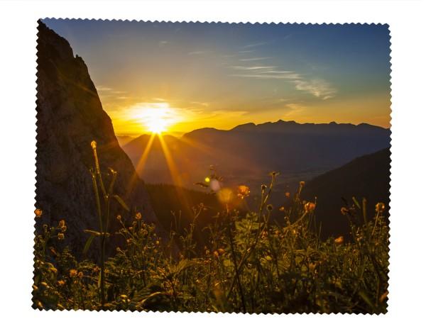 Aussicht von der Dammkarhütte bei Sonnenuntergang