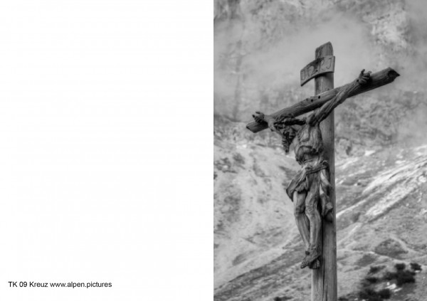 Trauerkarte Kreuz im Dammkar