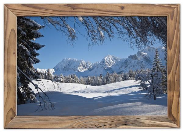 Karwendel-Schnee-Altholzrahmen