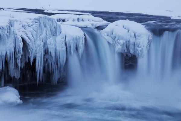 Der Goðafoss ein Wasserfall in Islands Norden