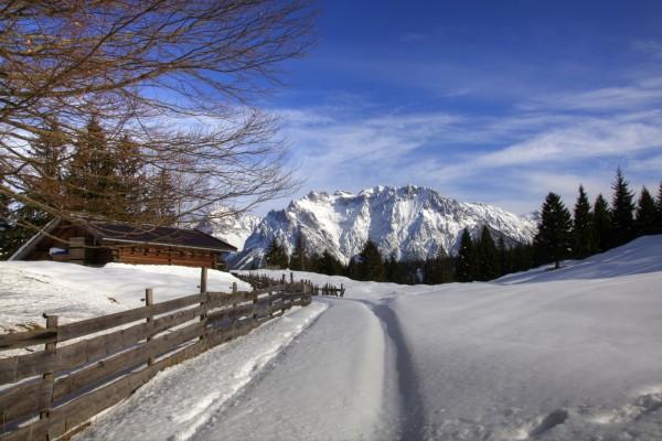 Winterlandschaft bei Mittenwald