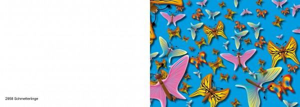 25 x Karten für Kinder Motiv Schmetterlinge Nr. 2958