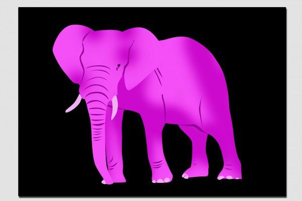 Tischset rosa Elefant