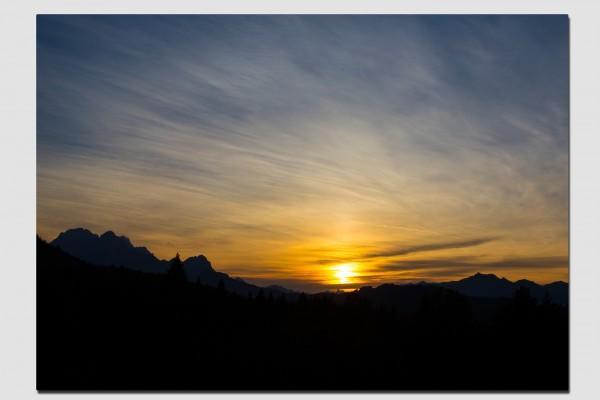 Stoff Tischset Sonnenuntergang über dem Wettersteingebirge