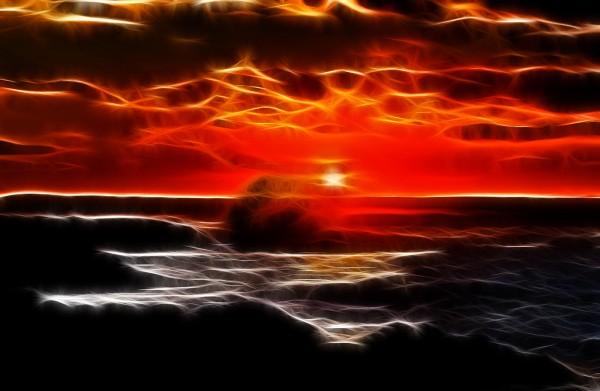 Fotogemälde Sonnenuntergang