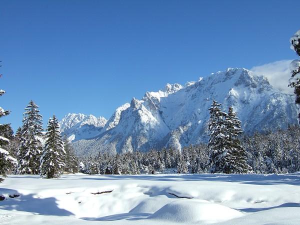 Karwendelblick im Winter
