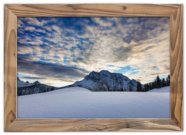 Verschneiter-Wetterstein-Altholzrahmen