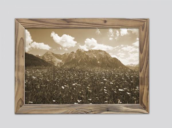 Buckelwiesen mit Karwendel im Altholzrahmen