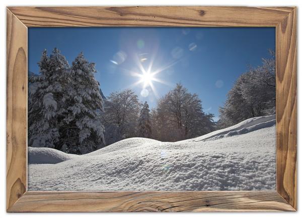 Buchenwald-Schnee-Altholzrahmen