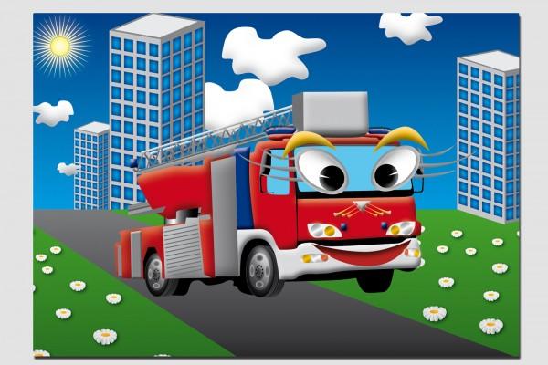 Tischset Feuerwehrauto