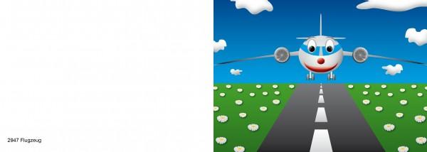 Karten für Kinder Motiv Flugzeug