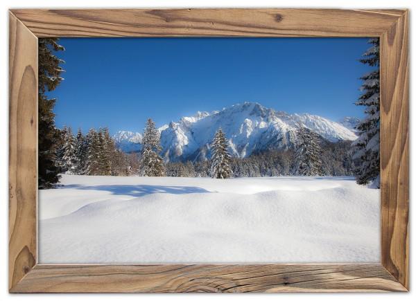 Karwendelpanorama-Lautersee -Altholzrahmen