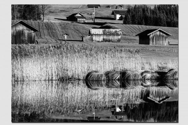 Stoffset Spiegelung im Schmalensee