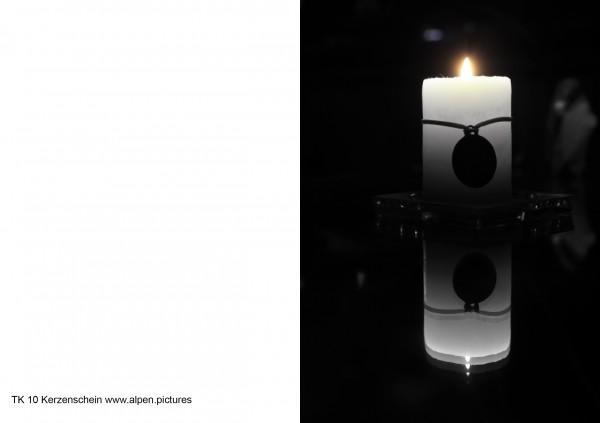 Trauerkarte Licht im Dunklen
