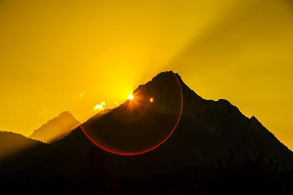 Sonnenuntergang am Wetterstein