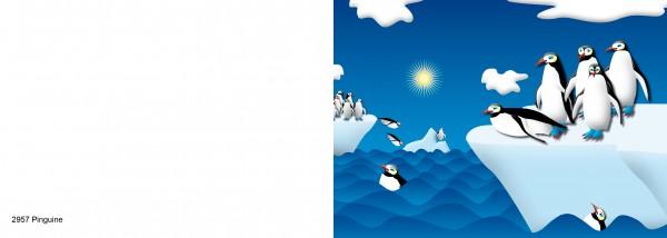 25 x Karten für Kinder Motiv Pinguine Nr. 2957