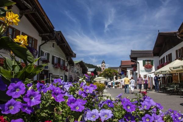 Tassenmotiv Obermarkt in Mittenwald