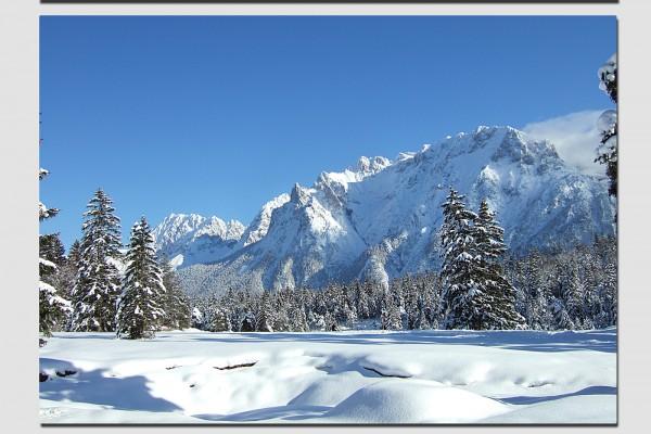 Tischset verschneiter Karwendel