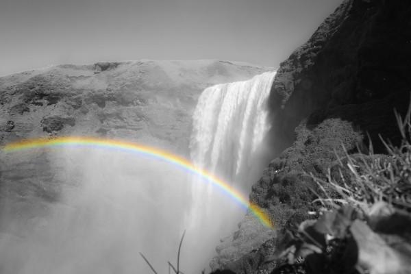 Regenbogen am Skógafoss