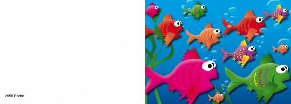 25 x Karten für Kinder Motiv Fische Nr. 2955