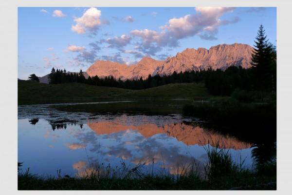 Stoff-Tischset Alpenglühen am Wildensee