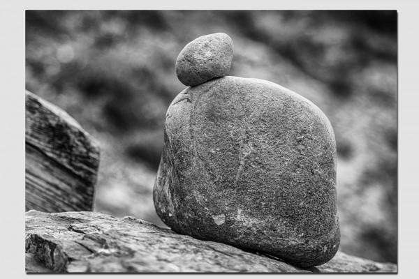 Stoffset Mann aus Steinen
