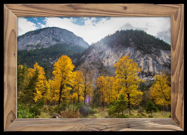 Goldener-Herbst-im-Hinterautal-im-Altholzrahmen