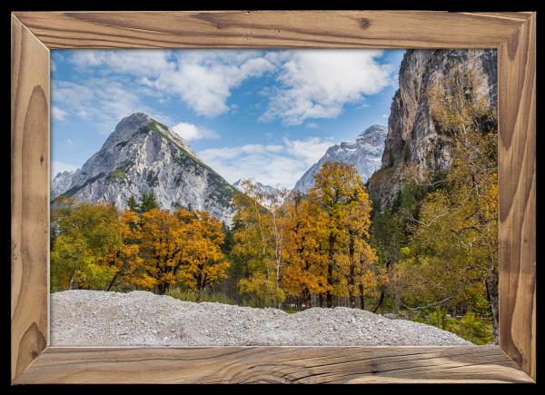 Herbst-an-der-Birkareisse-Altholzrahmen