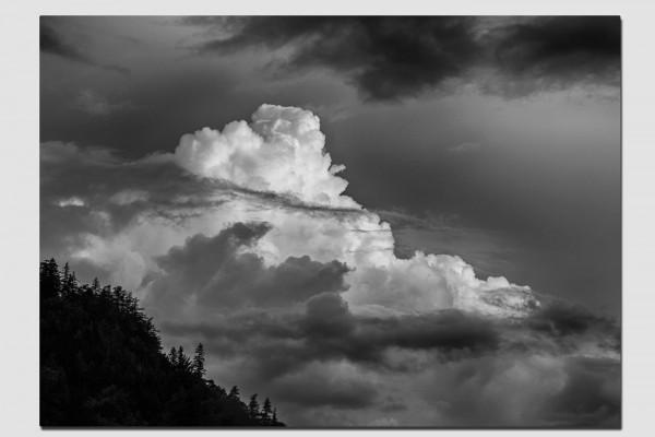 Tischset Sommerwolke in schwarzweiß