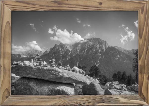 Kranzberg-Stoamandlan -Altholzrahmen