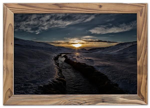 Heißwasserbach im Eis